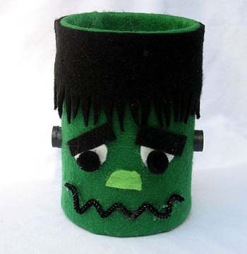 Tin Can Frankenstein Craft for Kids from KinderArt.com