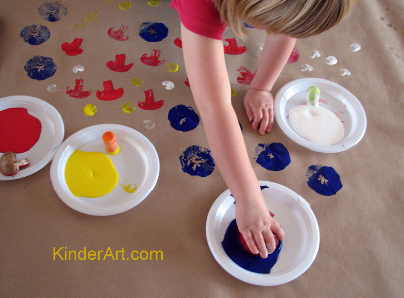 Fruit and Vegetable Prints: Printmaking Lessons for Kids: KinderArt