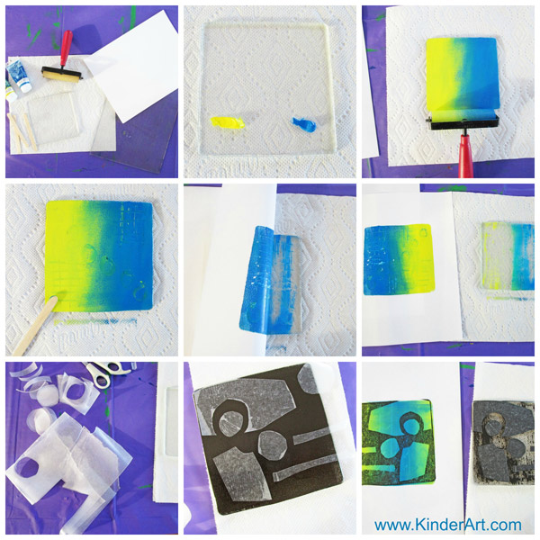 How to make monoprints with Gelli Arts printing plates.
