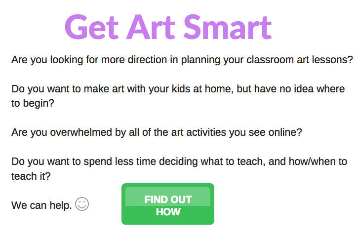 Get Art Smart - Join the KinderArt Club