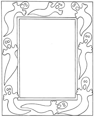 halloween ghost frame free halloween coloring pages to print and