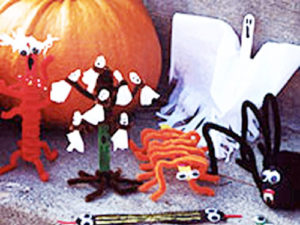 Ghoulish Stick Figures Crafts for Halloween