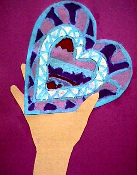 I Give You My Heart craft for kids. KinderArt.com