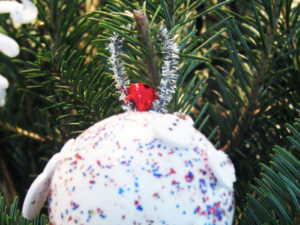 Glitter Ball Ornament Craft. KinderArt.com