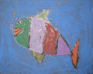 Kids can make glue fish pictures