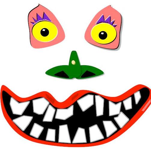 Glue On Pumpkin Faces. KinderArt.com
