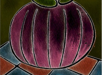 Students can create picture of a pumpkin using glue and pastels.