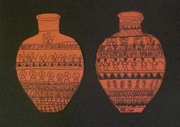 Greek Pottery Designs Lesson Art History Lesson Plan KinderArt Simple Greek Vase Patterns