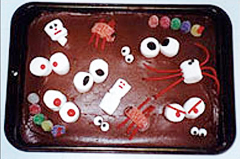 Halloween Cake Recipe from KinderArt.com