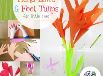 Children will use hand and foot tracings to make these one of a kind flowers. KinderArt.com