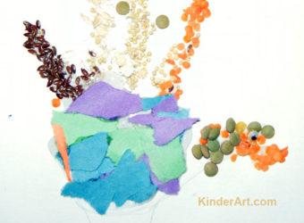 Handprint Turkey with Texture Craft from KinderArt.com