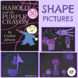 Harold and the Purple Crayon art lesson plan