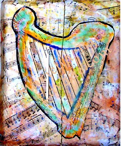 Making a decorative harp box. Image: Mariella Pace