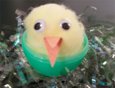 Hatching chicks Easter craft for kids from KinderArt.com