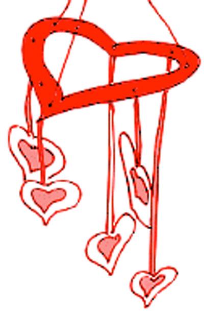 Heart Mobiles. KinderArt.com