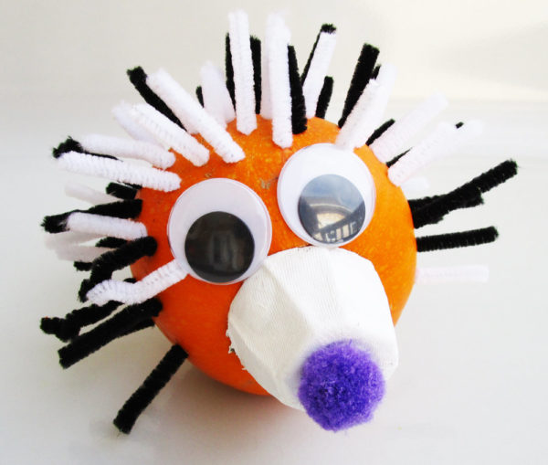 Headgehog pumpkin. KinderArt.com
