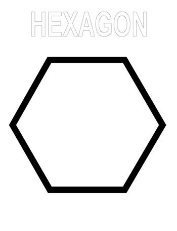 Hexagon coloring page. KinderArt.com