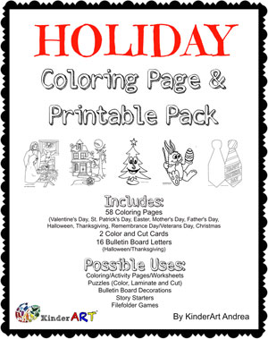 Holiday Coloring Page Pack