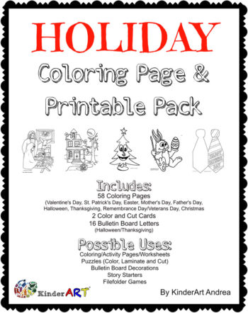 Holiday/Seasonal Coloring Page Pack