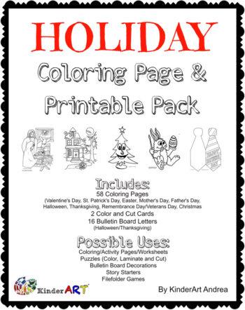 Holiday/Seasonal Coloring Page Pack