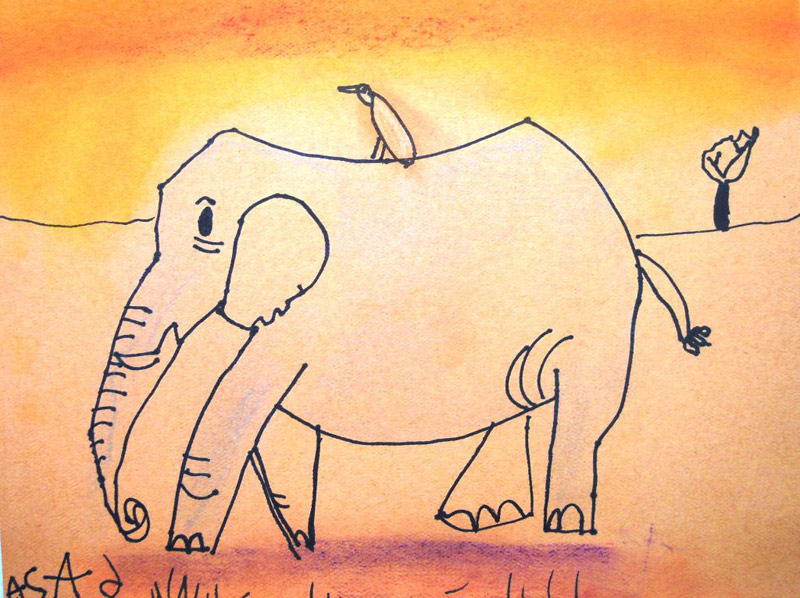 How to draw step by step elephants