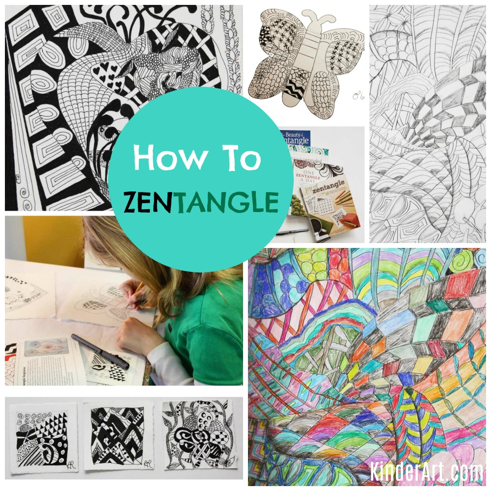 Learn how to Zentangle with your children and students. KinderArt.com