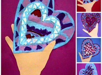I Give You My Heart craft for kids. KinderArt.com
