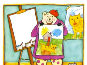Make a portrait inspired by I Like Me by Nancy Carlson