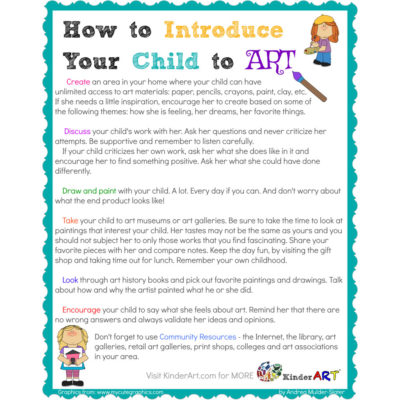 How to Introduce Your Child to Art Free Printable from KinderArt.com