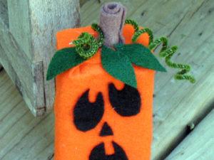 Juice Box Jack-O-Lantern. KinderArt.com