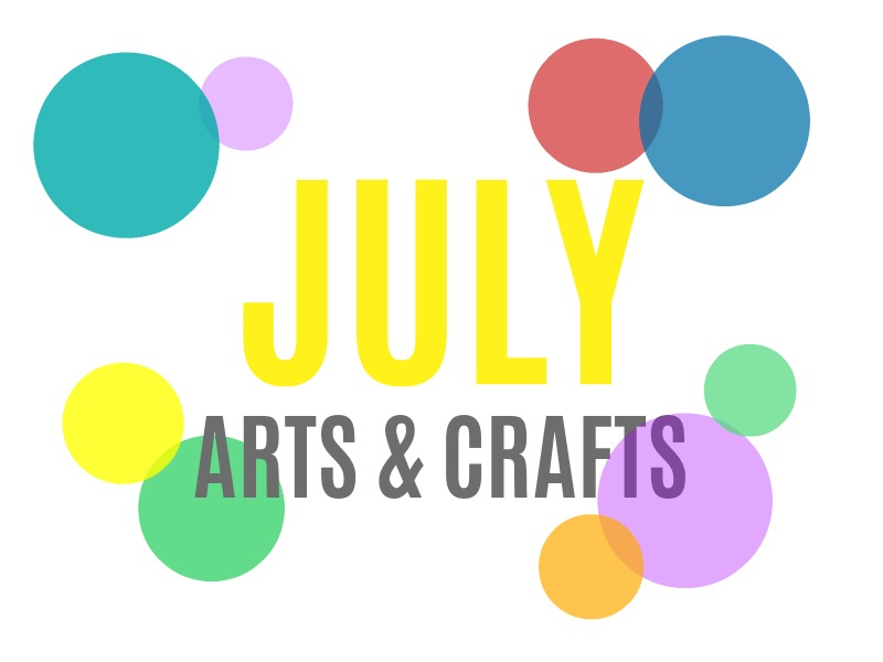 July Arts, Crafts and Activities for Kids from KinderArt.com