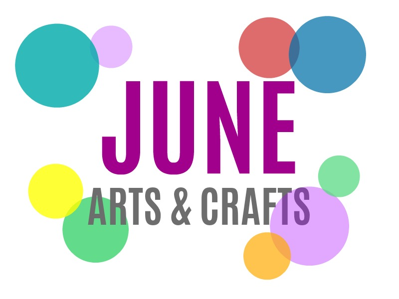 June Arts, Crafts and Activities for Kids from KinderArt.com