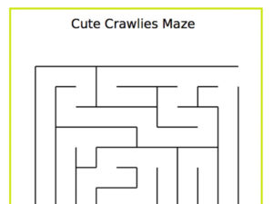 Cute crawly maze from Education.com