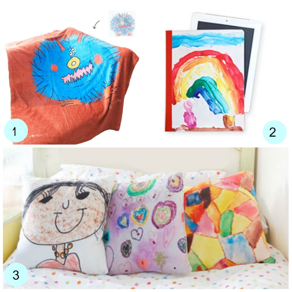 Put your kids art onto products from Shutterfly. KinderArt.com