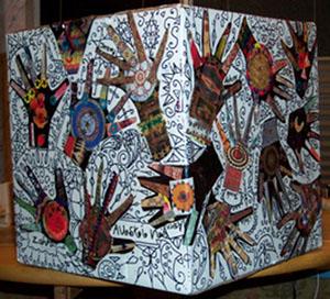 Khamsa good luck hand prints