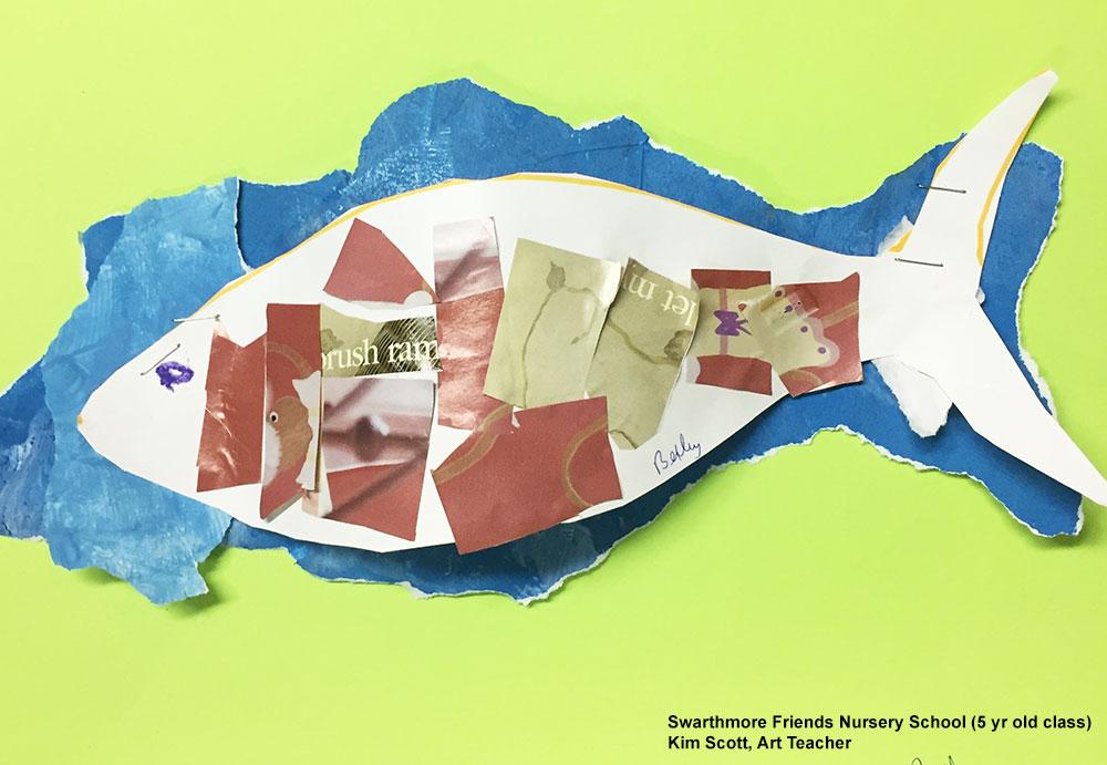 Mosaic Magazine Fish Lesson Plan, KinderArt.com