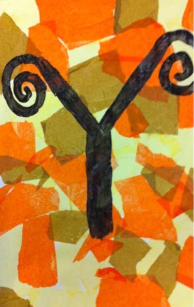 Klimt Tree of Life art lesson plan for kids. KinderArt.com.