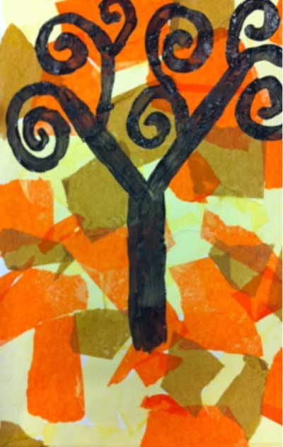 Klimt Tree of Life art lesson plan for kids. KinderArt.com.