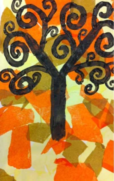 Gustav Klimt Tree of Life Art Lesson Plan for Elementary. KinderArt.com