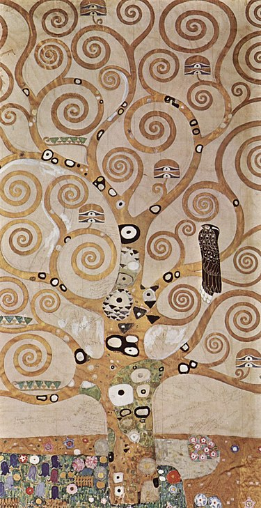 Gustav Klimt Tree of Life Oil on canvas, 1909 Location: Museum of Applied Arts, Vienna, Austria