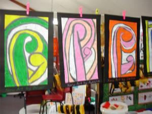 Make Maori Koru art
