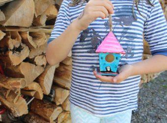 Birdhouse painted with Kwik Stix.