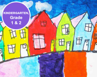 Kindergarten, Grade 1 and Grade 2 Art Lessons. KinderArt.com