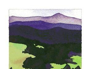 Crayon resist landscape.