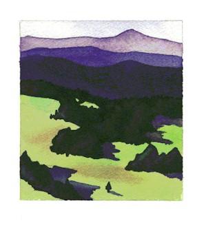 Landscape Resist Painting
