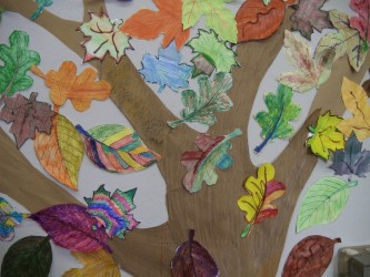 Leaf by leaf cooperative art project