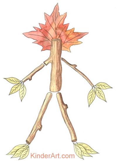 Leaf people craft