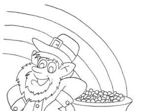 Leprechaun coloring page. KinderArt.com