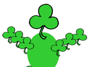 Shamrock Figure Craft for Kids. KinderArt.com
