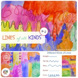Lines Variety Art Lesson Plan for Kindergarten. KinderArt.com